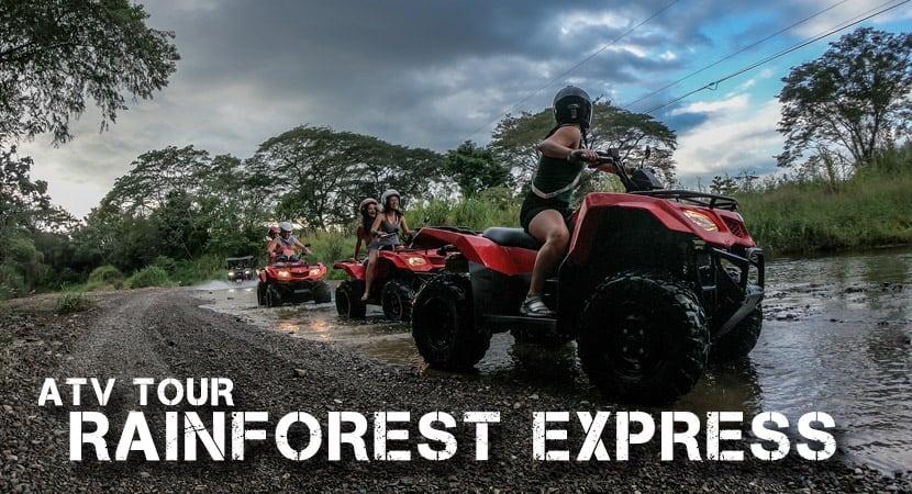 "ATV Tour Jaco Costa Rica, Rainforest Express 1 Hour ATV Tour, AXR ""An Xtreme Rider"""