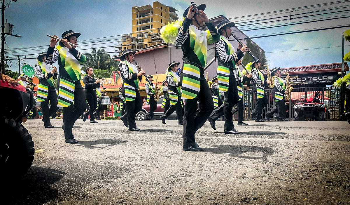 Audition of Bands Guanacaste, Puntarenas, & Alajuela. Parade October 2019 in Jaco Costa Rica. Jaco beach Costa Rica, Playa Jaco, AXR Jaco,
