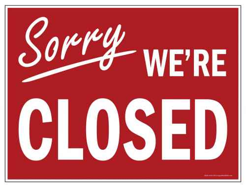 Temporarily Closed due to Coronavirus
