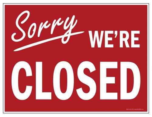 Temporarily Closed due to Coronavirus