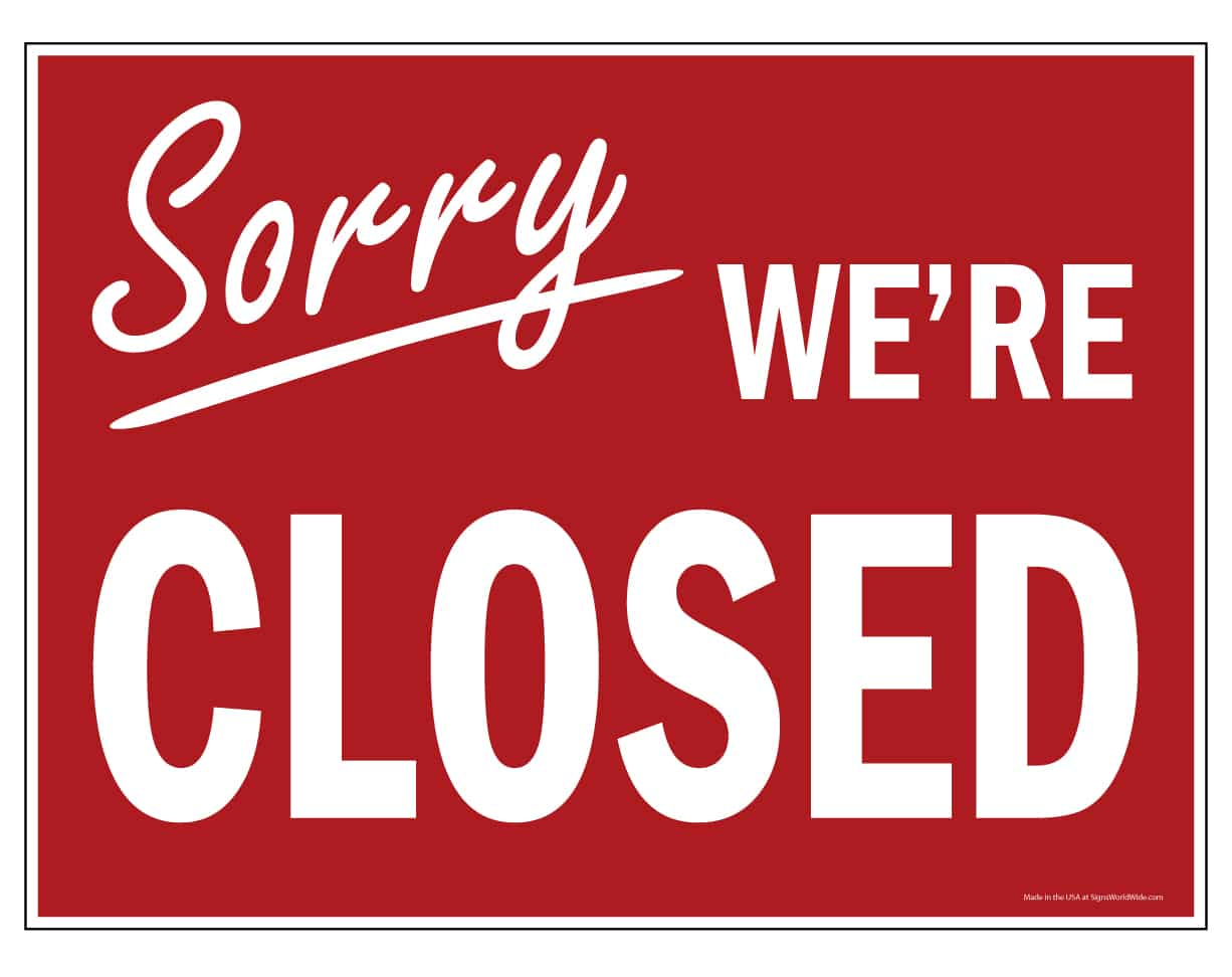 Sorry we're Closed, AXR Jaco, Costa Rica Coronavirus